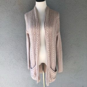 REISS Cable Knit Long Sweater